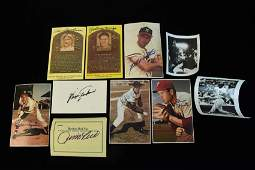 Baseball Hall of Fame Autographed Photo's