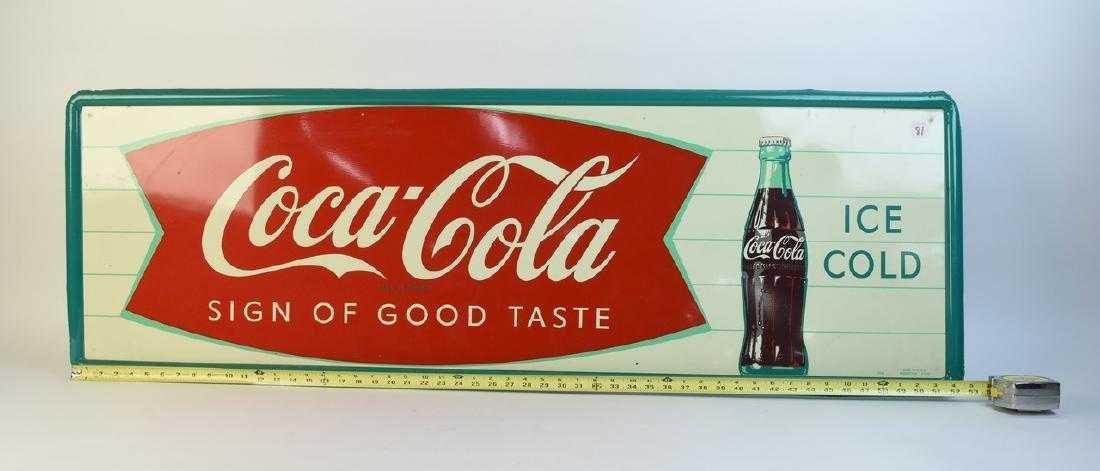 Large Coca-Cola Metal Advertising Sign - 2