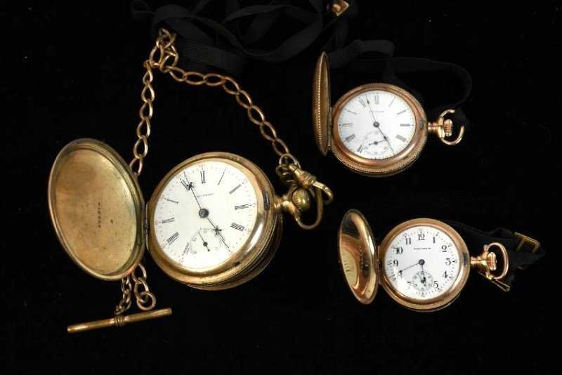 (3) Waltham Rolled Gold Pocket Watches