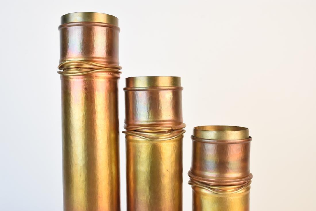 Roy Markusen Designer Copper Candle Holders - 2
