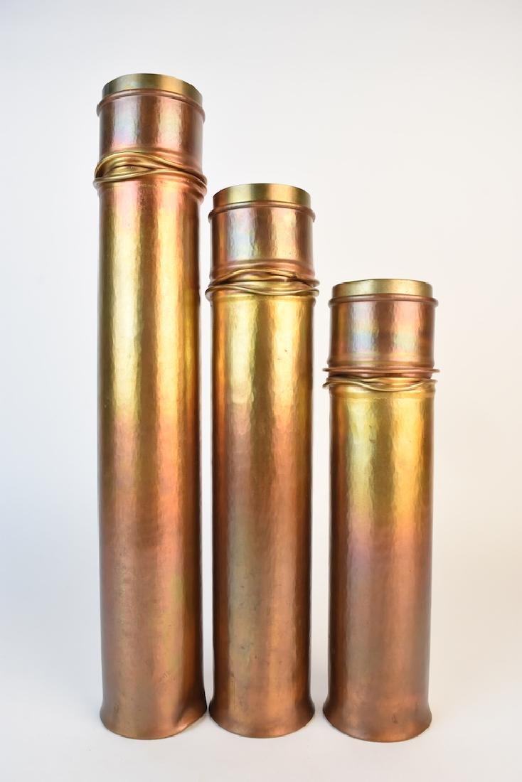 Roy Markusen Designer Copper Candle Holders - 3