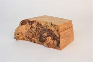 Michael Elkan Burl Wood Box; signed