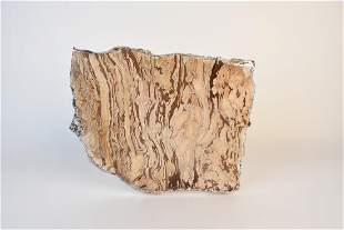 RabLab Kiva Stone and Sterling Border Platter