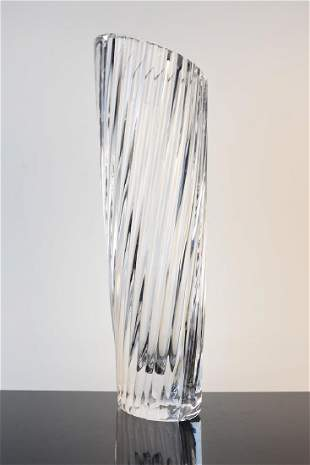 Clear Kosta Boda Signed and Numbered Vase
