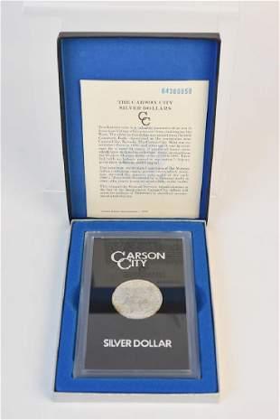 Uncirculated 1884 Carson City Silver Dollar