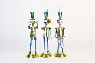 (3) Mexican Tin Ware Christmas Band Soldiers