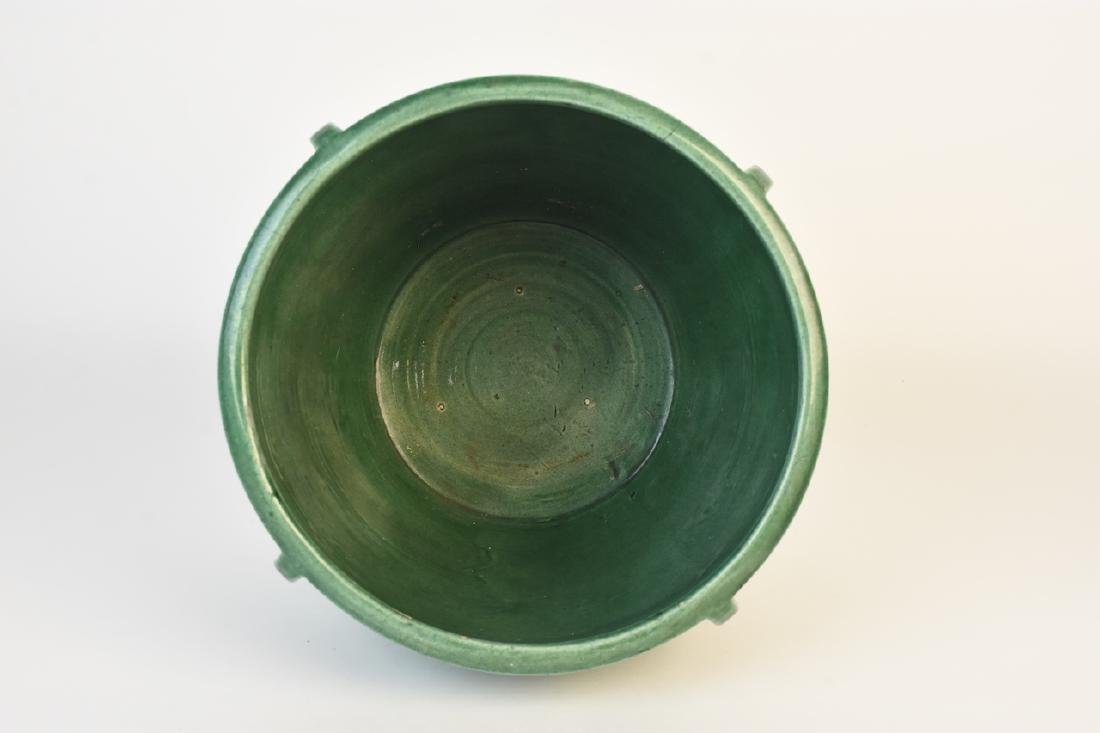 Weller Green Pottery Jardinere - 9