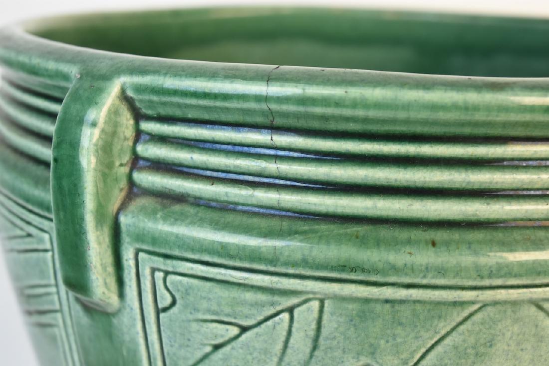 Weller Green Pottery Jardinere - 4