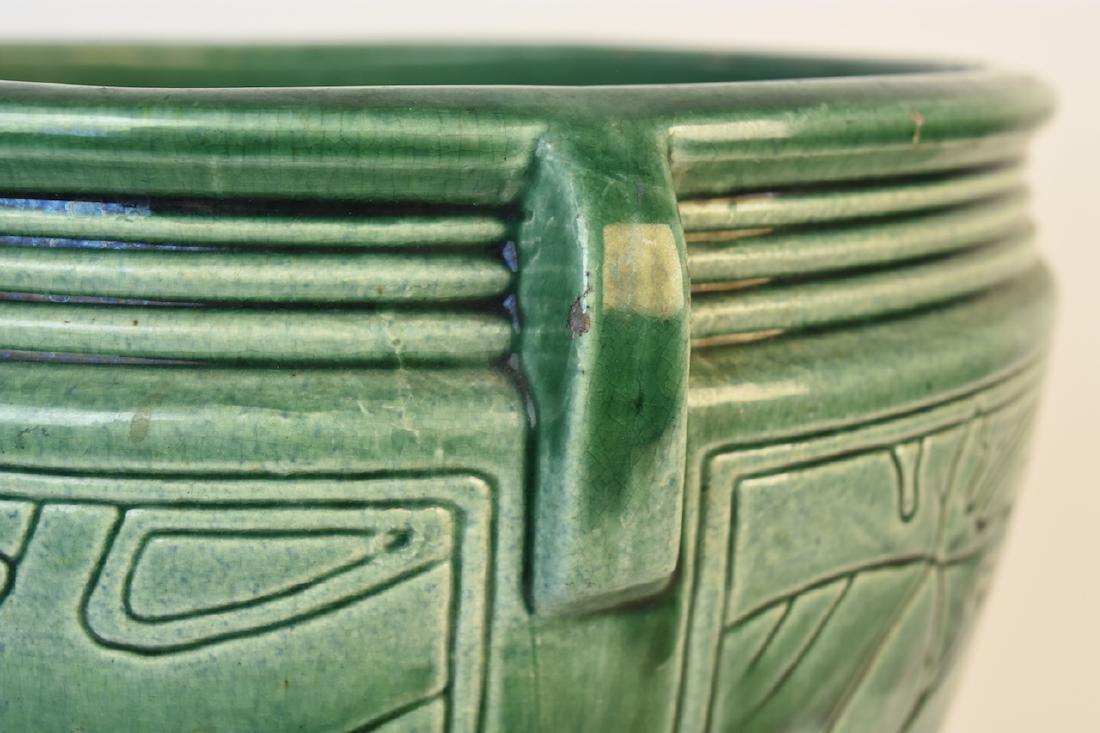 Weller Green Pottery Jardinere - 5