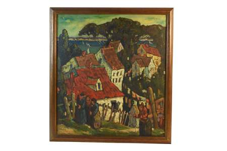 Randolph Coats Original Oil on Canvas; SLL