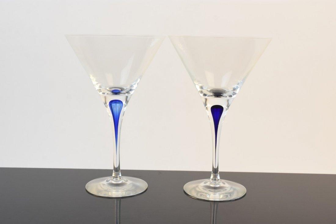 Pair of Orrefors Martini Glasses