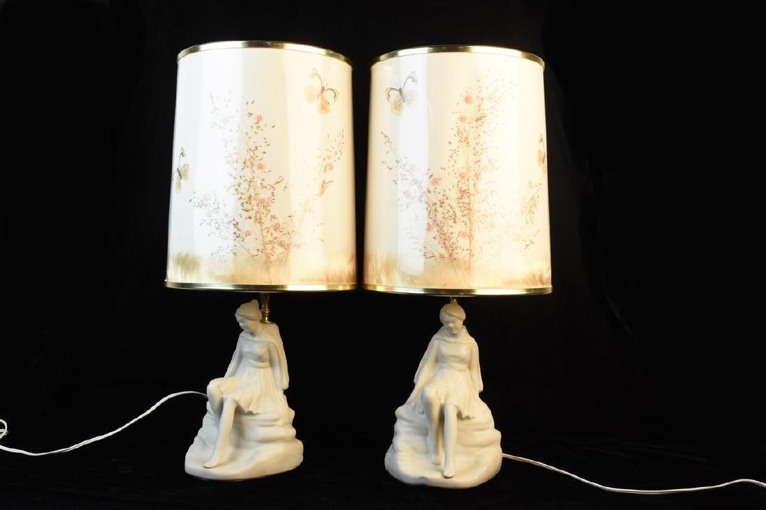 Van Briggle Porcelain Figural Lamps