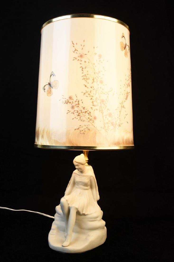 Van Briggle Porcelain Figural Lamps - 2