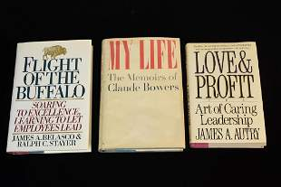 Hardcover Books Including Claude Bowers