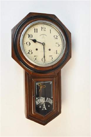 Vintage Welaiti Regulator A Pendulum Wall Clock