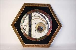 Raku Ceramic Framed Wall Art