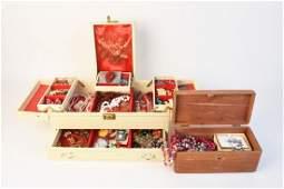 (2) Jewelry Boxes + Costume Jewelry