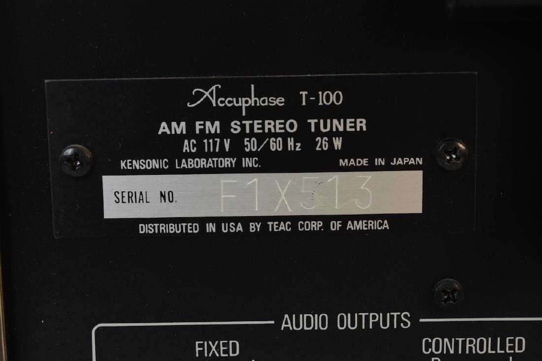 TEAC Accuphase T-100 AM/FM Stereo Tuner - 6