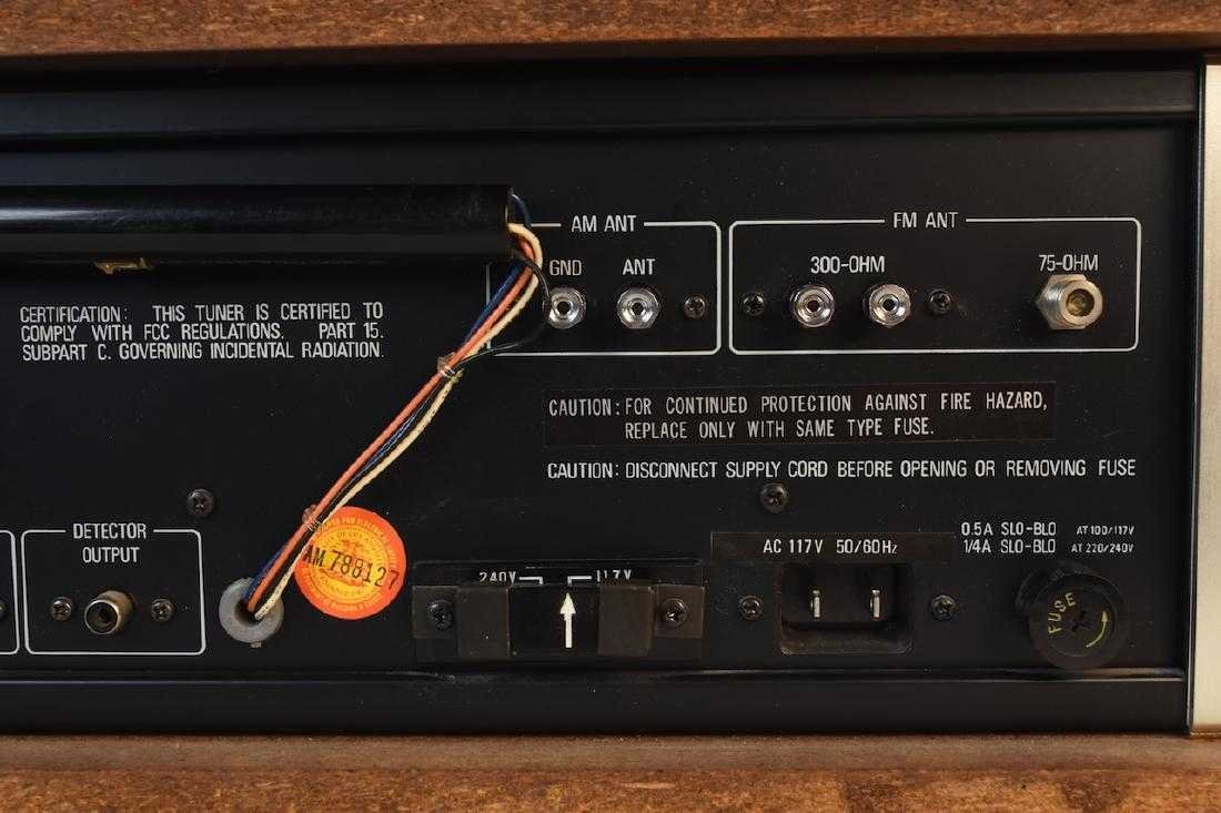 TEAC Accuphase T-100 AM/FM Stereo Tuner - 7