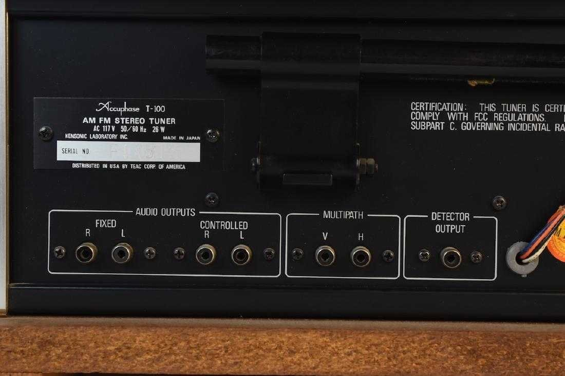 TEAC Accuphase T-100 AM/FM Stereo Tuner - 8