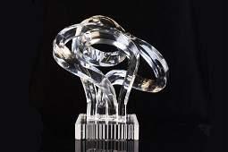 Shlomi Haziza Signed Acrylic Modernist Sculpture