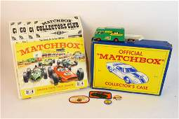 Vtg Matchbox Collector's Case w/ Diecast Cars