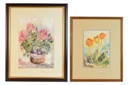 2 Original Fort Wayne Indiana Artist Watercolors