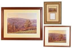 T.C. Steele Brown County Print Trio