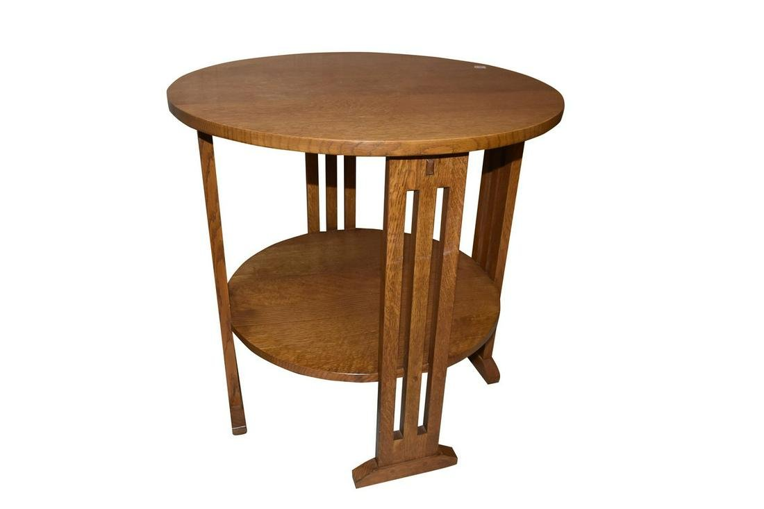 Stickley Oak Mission Style Lamp Table