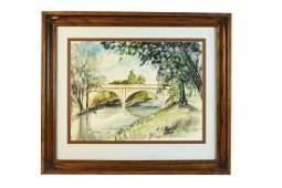"""Don Goss Original Watercolor """"Swinney Reflection"""""""