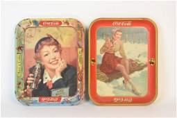 Vintage Coca-Cola Metal Trays