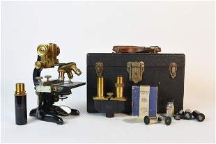 Antique Ernst Leitz Wetzlar Microscope +
