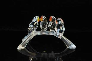 "Swarovski Crystal ""Baby Lovebirds"" Figurine"
