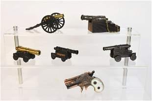 Cannon Figurines Cap Gun and Lighter Gun