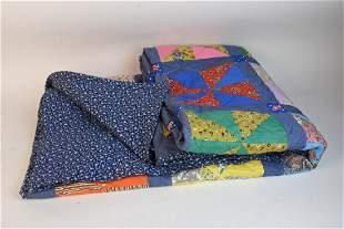 c 1976 Hand Stitched Pinwheel Quilt