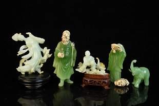 Chinese Style Jade Tone Figurines