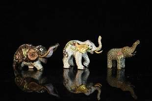 Cloisonn Elephants