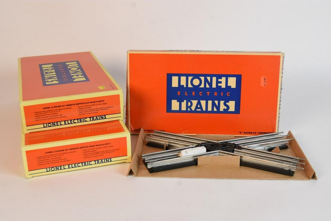 """(3) Lionel """"O"""" Gauge Track Accessories in Boxes"""