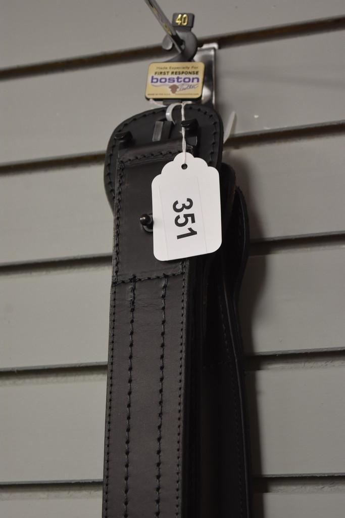 (3) Boston Leather Belts, 40&42
