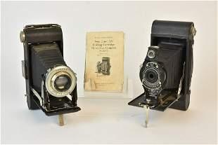 Vintage Kodak 2A Hawkeye & Kodak Junior Six-16