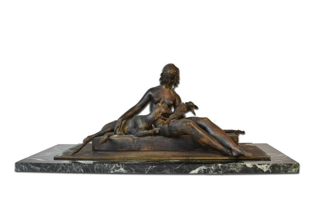 Ary Jean Leon Bitter Bronze Sculpture