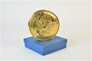 Silver-Gilt Replica United States Seal Skippet