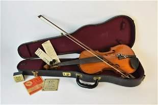 Antonius Stradivarius Violin in Case w/ Bow