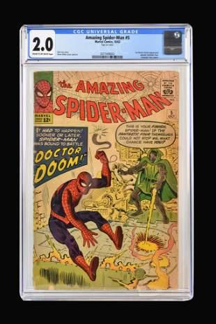 Amazing Spider-Man #5 CGC 2.0, First Dr. Doom