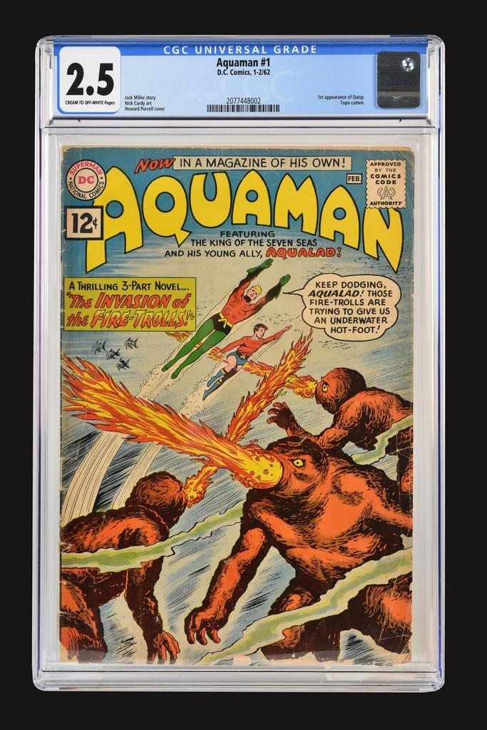 Aquaman #1 CGC 2.5, 1st Quisp Appearance