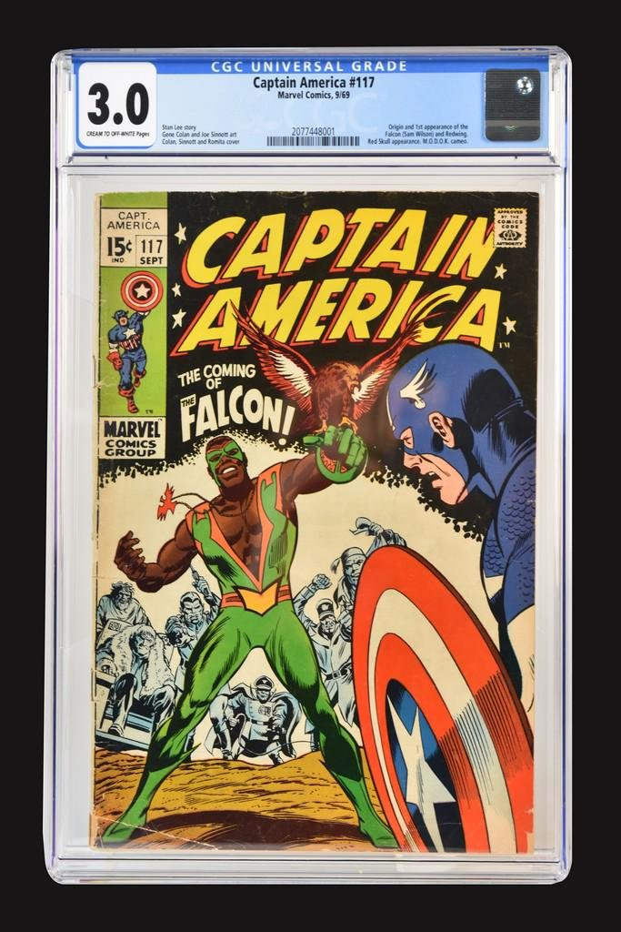 Captain America #117 CGC 3.0, 1st Falcon Appearance