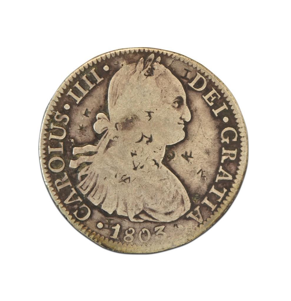 1803 Spanish Colony Mexico Coin 8 Reales, Carlos I
