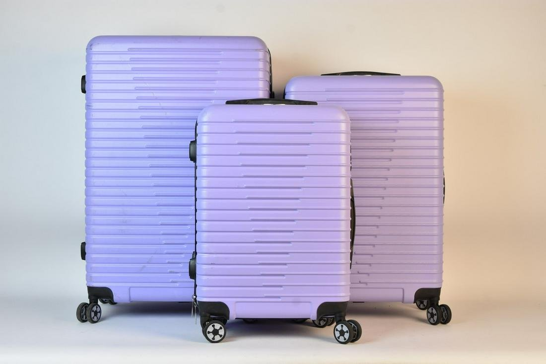 3-Piece Nesting Brio Luggage Hardside Cases in Purple