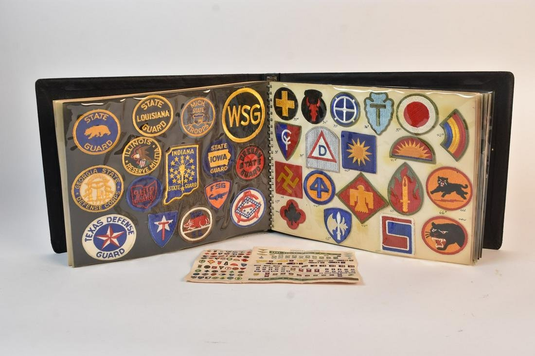 Large Lot of WWII Military Insignia Patches