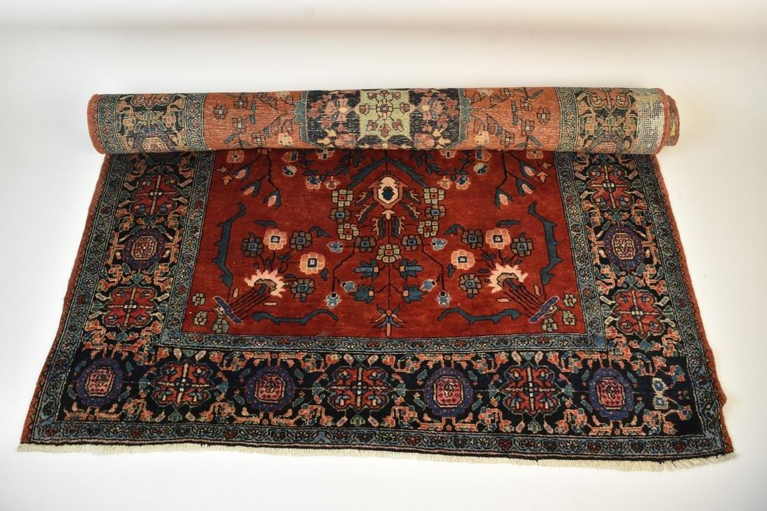 "Vintage Heriz Serapi Persian Rug 63"" x 40"""